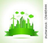 illustration of ecology concept ... | Shutterstock .eps vector #156485444