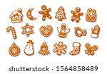 big set of christmas and new... | Shutterstock .eps vector #1564858489