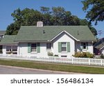 green   white cottage with...   Shutterstock . vector #156486134