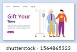 gift your time landing page... | Shutterstock .eps vector #1564865323