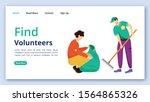 find volunteers landing page...