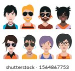 set of people icons in flat... | Shutterstock .eps vector #1564867753