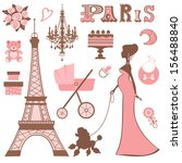 baby shower parisienne... | Shutterstock .eps vector #156488840