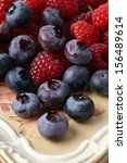 mixed fresh berries. | Shutterstock . vector #156489614