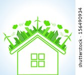 illustration of ecology concept ... | Shutterstock .eps vector #156490934