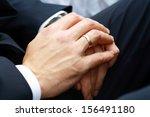 close up of elegance man hands... | Shutterstock . vector #156491180
