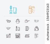 kitchenware icons set. grater...