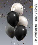 bunch of balloons on grey... | Shutterstock .eps vector #1564941493