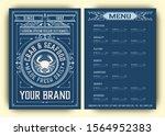 vintage restaurant menu design... | Shutterstock .eps vector #1564952383