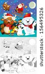 the coloring christmas page... | Shutterstock . vector #156495326