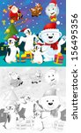 the coloring christmas page... | Shutterstock . vector #156495356