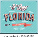 vintage greeting card from... | Shutterstock .eps vector #156495530
