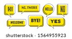 Speech Bubble. Set Of 3d And 2...