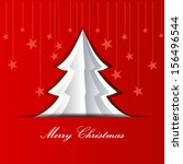 merry christmas and happy new... | Shutterstock .eps vector #156496544