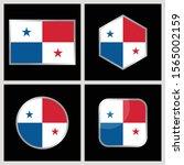 panama flag vector icon... | Shutterstock .eps vector #1565002159