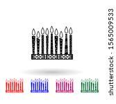 hanukkah candles multi color...