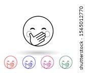 hold a laugh multi color icon....
