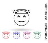 st multi color icon. simple...