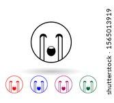 weeping multi color icon....