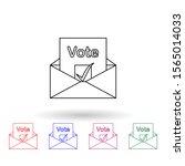 ballot paper in an envelope...