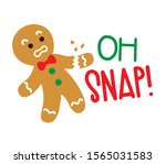 funny christmas gingerbread... | Shutterstock .eps vector #1565031583