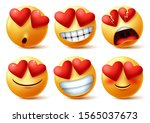 emoticons or emojis face with... | Shutterstock .eps vector #1565037673