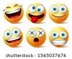 emoji and emoticon faces vector ... | Shutterstock .eps vector #1565037676