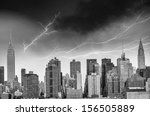 New York. City Skyline With...