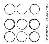 Hand Drawn Circle Line Sketch...