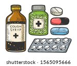 Medicine Drug Set Sketch...