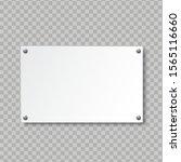 realistic empty signboard on... | Shutterstock .eps vector #1565116660