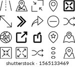 navigation vector icon set such ... | Shutterstock .eps vector #1565133469