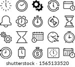 Clock Vector Icon Set Such As ...