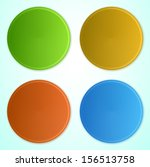 vector set of circle banners | Shutterstock .eps vector #156513758