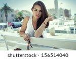attractive woman    Shutterstock . vector #156514040