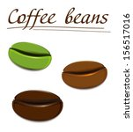 coffee beans | Shutterstock .eps vector #156517016