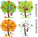 Vector Set Of Four Seasons...
