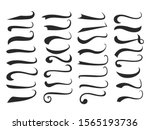 black text swooshes isolated... | Shutterstock .eps vector #1565193736