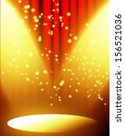 red movie or theater curtain... | Shutterstock . vector #156521036