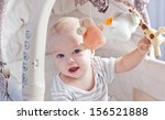 baby boy playing sitting in the ... | Shutterstock . vector #156521888