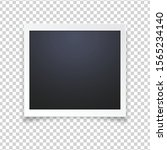 blank photo frame  isolated on... | Shutterstock .eps vector #1565234140