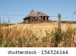 an old home on a hill in a... | Shutterstock . vector #156526166