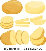 whole  sliced and peeled... | Shutterstock .eps vector #1565262430
