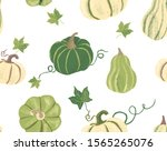 Vector Seamless Pumpkins...