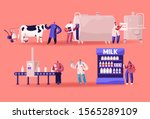 milk production manufacturing ... | Shutterstock .eps vector #1565289109