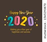 new year 2020 illustration... | Shutterstock .eps vector #1565293870
