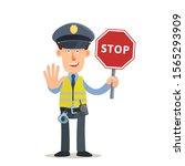 Crossing Guard. Policeman In...