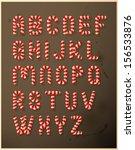 candy cane alphabet | Shutterstock .eps vector #156533876