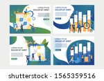 set of images with people... | Shutterstock .eps vector #1565359516