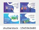 analyzing budget set.... | Shutterstock .eps vector #1565363680